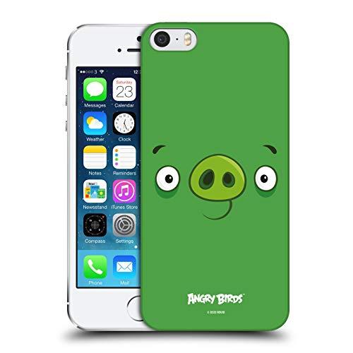 Head Case Designs Licenza Ufficiale Angry Birds Minion Pig Viso Pieno Cover Dura per Parte Posteriore Compatibile con Apple iPhone 5 / iPhone 5s / iPhone SE 2016