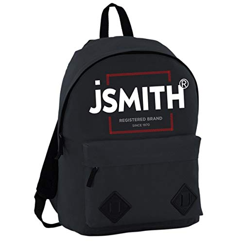 John Smith M20203 Mochila, Unisex niños, Negro, Talla Única