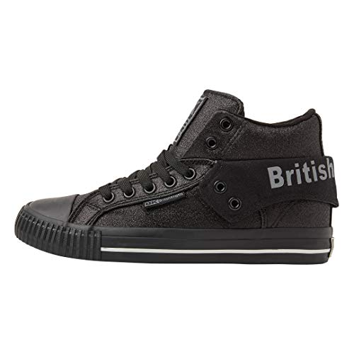 British Knights Roco, Baskets Hautes Femme, Noir (Black/Black 01), 37 EU