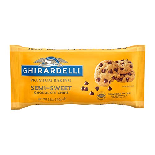 Ghirardelli Baking Chips, Semi Sweet Chocolate, 12 oz