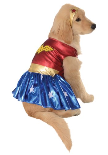 MyPartyShirt Wonder Woman Déguisement pour animal domestique Taille XL