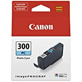 Canon PFI-300 Lucia PRO Ink, Photo Cyan, Compatible to imagePROGRAF PRO-300 Printer, Standard (4197C002)