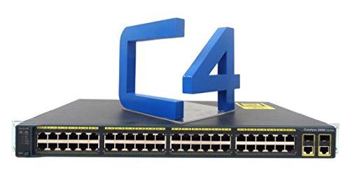 Cisco ws-c2960–48tc-l/Catalyst 2960–48TC Managed Ethernet Switch 48x 10/100BASE-TX, 2x 10/100/1000Base-T