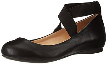Jessica Simpson Women s Mandayss Ballet Flat,Black,6.5 M US