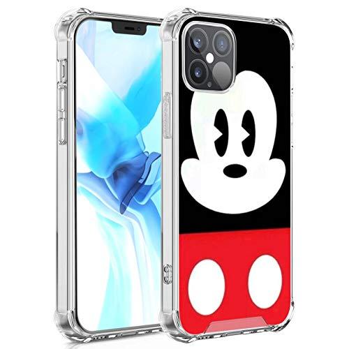DISNEY COLLECTION Carcasa de cristal transparente diseñada para iPhone 12, diseño de Mickey Mouse 5, delgada, a prueba de golpes, antiarañazos para iPhone 12