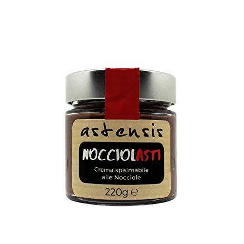 ASTENSIS NOCCIOLASTI Crema Spalmabile Gianduia Artigianale Cacao e Nocciole 220 Grammi - Gianduja - Senza Olio Di Palma