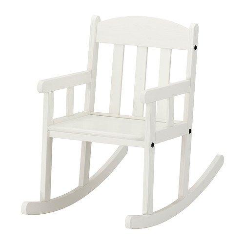IKEA SUNDVIK, geschwungenes Design Stuhl, weiß
