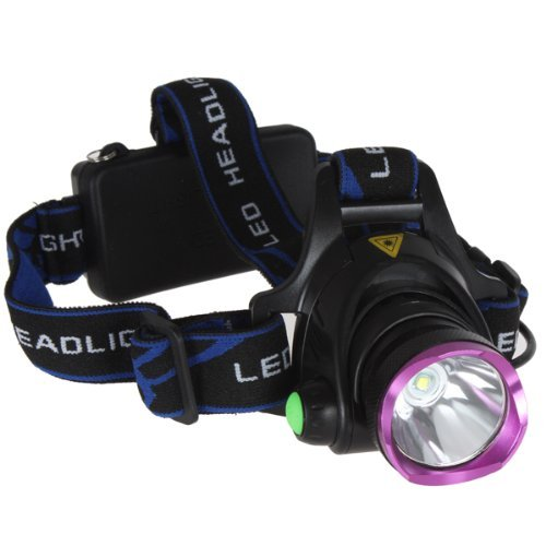 WindFire 2000 Lumens CREE XM-L T6 U2 LED 3 Modes Headlamp 18650 Rechargeable Battery Headlight LED Lamp Torch Flashlight with Charger LED Headlamp for Outdoor Riding, Camping, Climbing (No Battery)