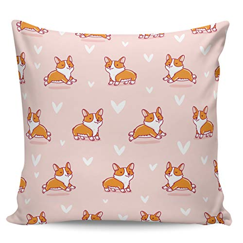 Winter Rangers Decorative Throw Pillow Covers- Cute Puppy Loves Wales Cartoon Style Ultra Soft Pillowcase Comfy Square Cushion Cover Case for Sofa Bedroom, 18' x 18'