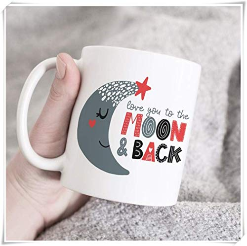 Love you to the moon and back mug regalo de mamá regalo de esposa regalo de san valentín taza de amor taza de te amo regalo para novio novia esposo taza de café de cerámica de 11 oz alto brillo