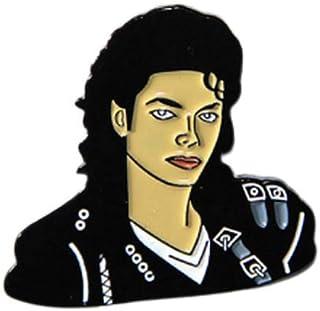 Generico Michael Jackson Metallo Smaltato Spilla Pin Bad - 3 x 3 cm