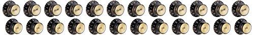 Gibson Gear PRMK-020 Poti-Kappen, Zylinderhut-Form, Metall, 4 volumes- Schwarz/goldfarben