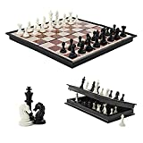 Mini Chess Board, 7.08' x 7.08' Folding Chess Set with Magnetic Pieces, Travel Chess Set, Board Game for Kids and Family. (Small Size)