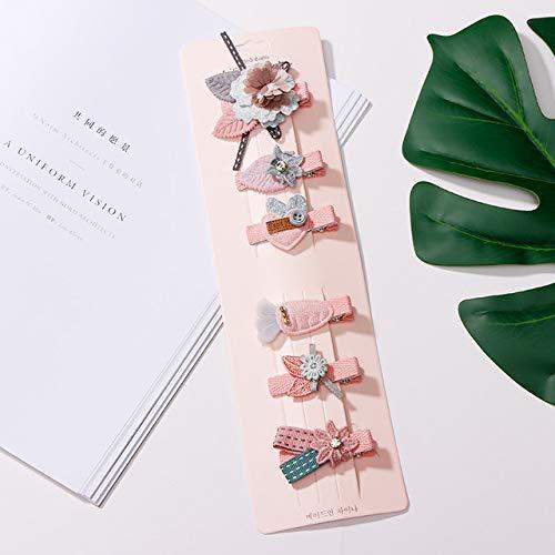 pinces à cheveux 6 Pcs/Ensemble Enfants Filles Belle Étoile Animal Princesse Pinces À Cheveux Cheveux Accessoires Mignon Enfants Dentelle Fleur