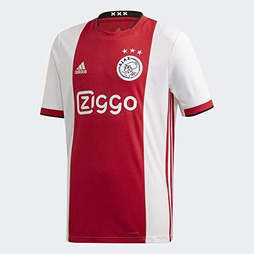 adidas Ajax H JSY Y Maglietta Unisex Bambini, Unisex - Bambini, Maglietta, EI7380_164, Rojfue/Bianco/Nero, 164