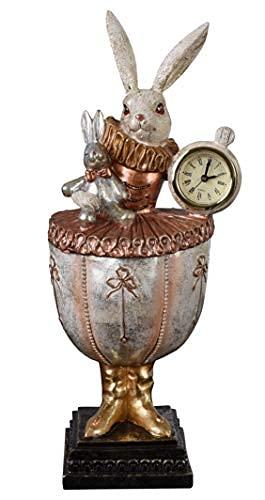 Alice im Wunderland Deckeldose Kaninchen Tischuhr Schmuckdose Box Figur tvc126 Palazzo Exklusiv