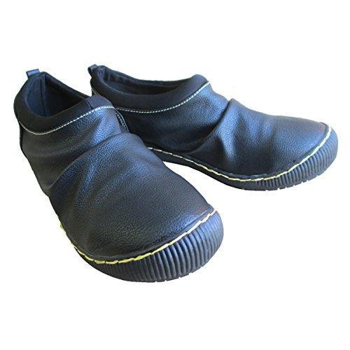 [ウィルソンリー] Wilson Lee 2814 レディース カジュアルシューズ 防水加工 コンフォート スリッポン 伸縮性 リゾート靴 普段履き 仕事靴 (22.5cm, ブラック)