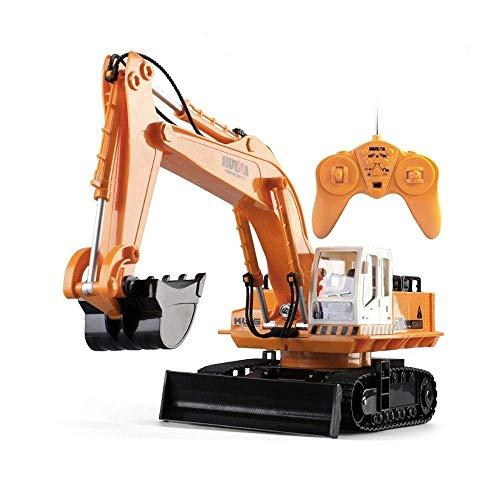 ZCYXQR Excavadora de Control Remoto RC Tractor de construcción de Pala de Control Remoto de función Completa de 11 Canales, Dozer Ingeniería de Doble propósito Vehi