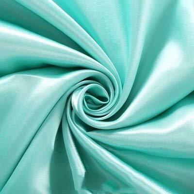 No brand Tovaglia in Raso di Alta qualità 140X250CM per la Decorazione di Banchetti per Feste di Matrimonio Coperta da Tavolo Rettangolare per tovaglie per Hotel 160x320cm Blu Tiffany