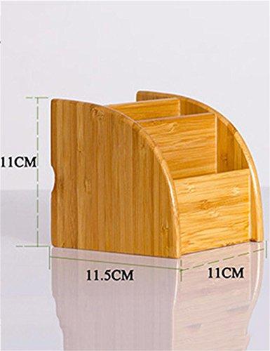 KKCF Bureau en Bois de Finition Boîtes cosmétiques Boîte de Rangement téléphone à Distance Boîte de Rangement de contrôle dépenses familiales (Taille : M)
