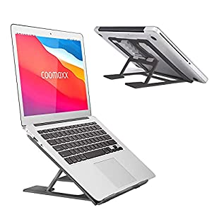 Adjustable Laptop Stand,Ventilated Portable Ergonomic Notebook Riser for Desk,Multi-Angle Adjustable Portable Anti-Slip…