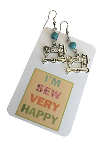 Love to Sew Singer Sewing Machine Earrings Sewing gift for grandma seamstress Quilter Sewing machine earrings Gift Packaged ~ Mothers Day Gift for seamstress