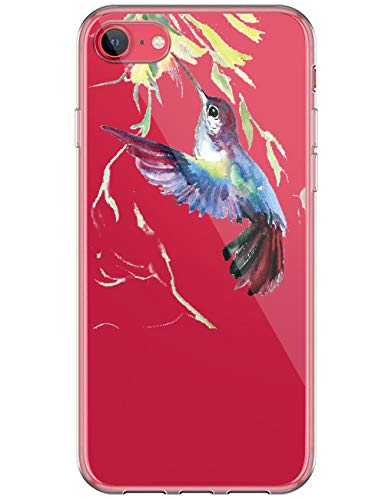 kinnter Kompatibel mit iPhone SE (2020) Hülle Silikon Transparent Ultra Dünn TPU Bumper Stoßfest Schutzhülle Original Design Handyhülle für iPhone SE (2020) Tasche Cover