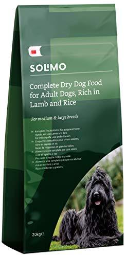 Amazon-Marke: Solimo - Komplett-Trockenfutter für ausgewachsene Hunde (Adult) mit viel Lamm und Reis, 1er Pack (1 x 20 kg)