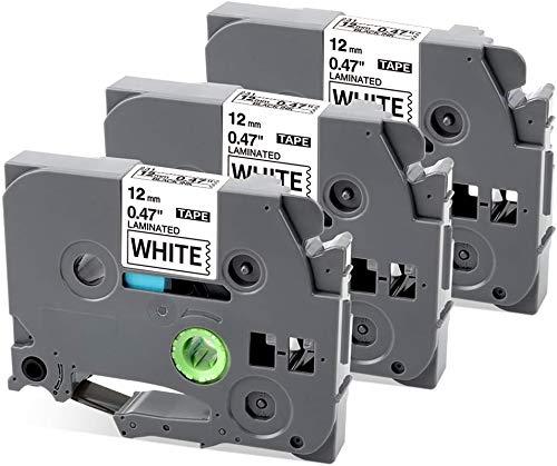 MarkField Kompatible Schriftband Ersatz für Brother P-Touch TZ TZe-231 12mm Etikettenband PT-1000 H100LB/R H105 D200, Schwarz auf Weiß