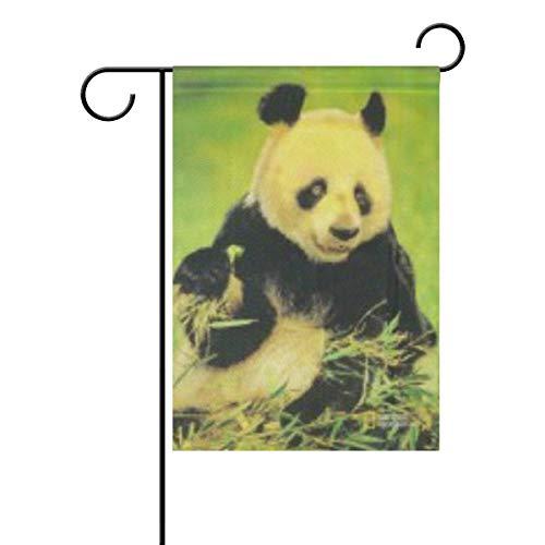 Drapeau de bienvenue – Drapeaux géants de jardin panda double face - 30,5 x 45,7 cm