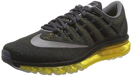 Nike Nike Herren Air Max 2016 Laufschuhe, Gris/Plata/Amarillo (Anthracite/RFLCT Slvr-Opt Yllw), 40 EU