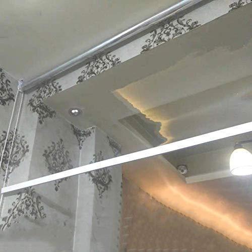 Persianas enrollables Estores Impermeables Transparentes para Patio de Cocina, con Accesorios, Persianas de Ventana de Plástico PVC Transparente para Interiores y Exteriores (Size : 80x100cm/W×L)