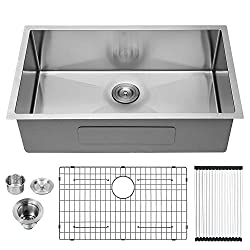 LORDEAR Commercial 32 Inch Brushed Nickel Undermount Sink