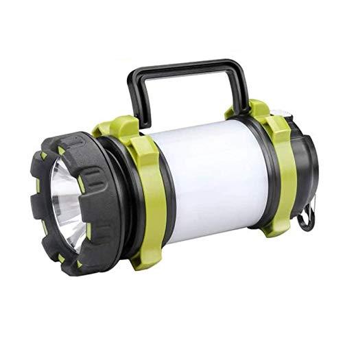 Acampar Iluminación Camping Luz Bombilla Multifunción LED de La Carpa de Carga por USB Lámpara de Inspección,Caminatas, Pesca, Verde Tamaño: 8.1 * 8.1 * 17.3CM Producto Aire Libre
