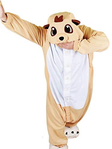 wotogold Tier Erdmännchen Pyjama Unisex Erwachsene Cosplay Kostüme Orange
