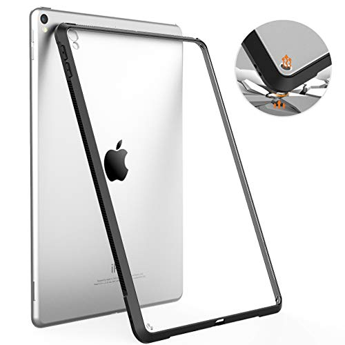 TiMOVO Case for iPad Air (3rd Gen) 10.5' 2019 / iPad Pro 10.5' 2017, Premium Ultra Slim Shock Absorbant Flexible TPU Air-Pillow Edge Protective Clear Case Fit iPad Air (3rd Gen) 10.5' 2019 - Black