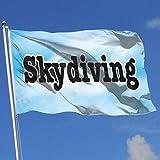 Home Bandera del jardín del Patio Trasero Paracaidismo 1 Banderas translúcidas de una Sola Capa 100% poliéster (3 x 5 pies)