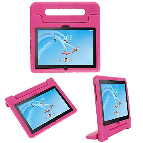 cradle HR Compatible with Kids Protective New Hand stand Case for Lenovo Tab P10(TB-X705F)/Tab M10(TB-X605F) 10.1 Inch 2019 Tablet,EVA Light Weight Protective Case Shock Proof stand Cover (magenta)