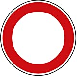 Verkehrszeichen Verbot für Fahrzeuge Aller Art Nr. 250 | Ø 600mm, Alu 2mm, RA1 | Original Verkehrsschild nach StVO mit RAL Gütezeichen | Dreifke®