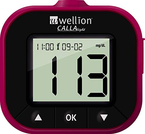 Wellion CALLA Light Blutzuckermessgerät Set brombeer mg/dl