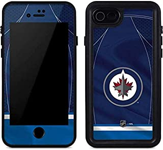 Skinit Waterproof Phone Case Compatible with iPhone SE - Officially Licensed NHL Winnipeg Jets Jersey Design