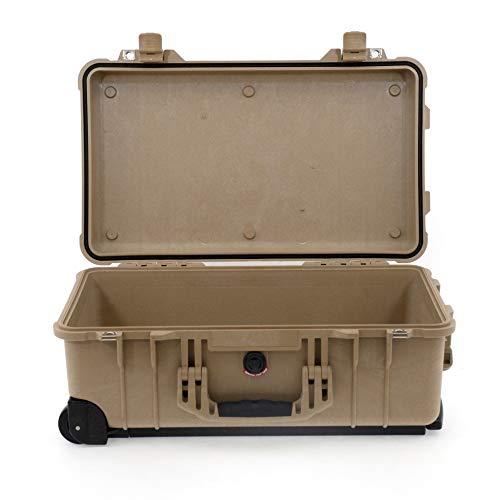 Peli Case 1510 Trolley ohne Schaumstoff - leer, Desert Tan, wasserdicht, staubdicht, stoßfest, IP67