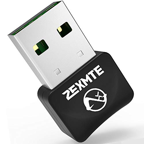 ZEXMTE Micro Bluetooth 5.0 Adapter for PC USB Mini Bluetooth Dongle for PC Wireless Transfer for Desktop Bluetooth Headphones Speakers Keyboard Mouse Printer Windows 10/8.1/8/7