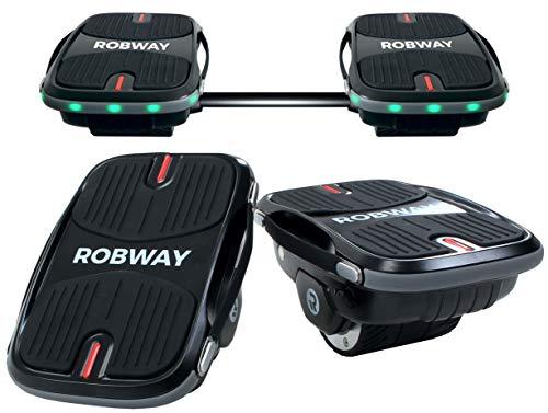 Robway S1 Hovershoes 2in1 Hoverboard - UL2272 Akku - 2 x 250 Watt Motor - Verbindungsstange - Self Balance - LED Beleuchtung