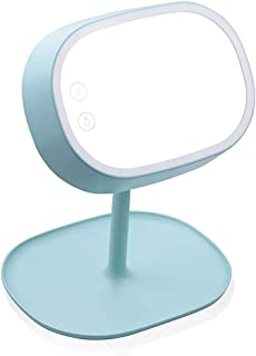 Dual LED Makeup Mirror and Reading Lamp - Swivels 180 Degrees - (Color : B)