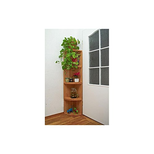 Isfort Holzhandels GmbH Eckregal, Buche Massivholz geölt, 4 stapelbare Einzelmodule, Dekoregal, echtes Holz