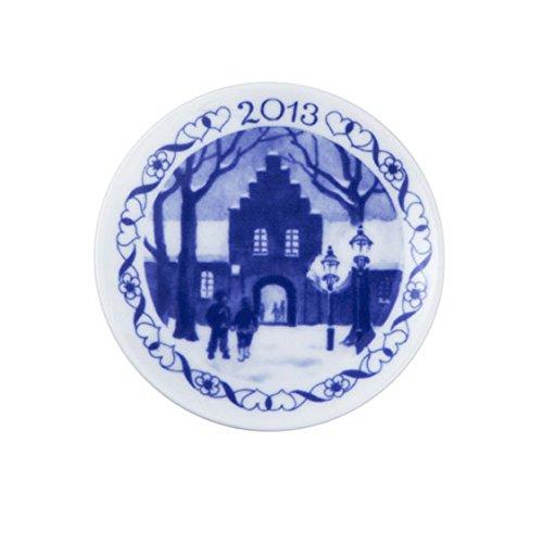 Royal Copenhagen / Placchetta di Natale 2013 / bianco, blu / porcellana