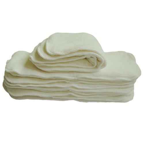 Alva - Fodere riutilizzabili per pannolini di stoffa a 5 strati in fibra di carbone di bambù, con soffietti