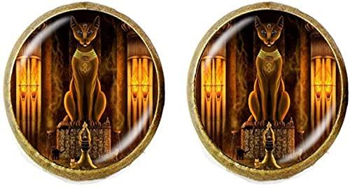 Pendientes de estatua de la diosa egipcia del gato egipcio antiguo de la joyería del señor egipcio para regalo de cumpleaños