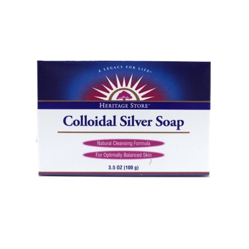 Heritage Store Bath Soap, Colloidal Silver, 3.5 Ounce
